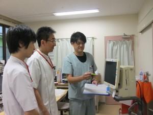 ▲院内教育(ME機器勉強会の様子)